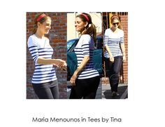 One of our favorite styles! In stock now in 4 different colors! Marie Menounos wearing Tees by Tina Maria Menounos, Celebs, Celebrities, Famous Faces, Hope Chest, Lingerie, How To Wear, Color, Design