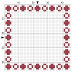 Bead 004 Cross Stitch Border -  - by StitchMeKnot.com