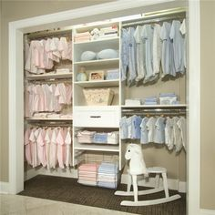 Baby closet (simple collection) - my babies habitacion bebe Baby Nursery Closet, Nursery Twins, Baby Bedroom, Baby Closets, Baby Girl Closet, Twin Baby Rooms, Twin Babies, Baby Twins, Twin Room