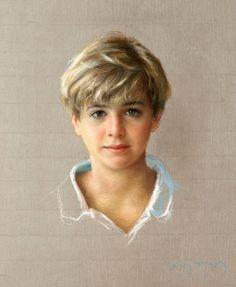 Pastel portrait by Valori Fussell, American artist living in Santa Barbara, b.1954