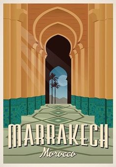 Marrakech Vintage Travel Poster, Travel, Morocco, Decoration, Wall Art Graphic Home Design on Etsy Art Vintage, Photo Vintage, Art Deco Posters, Vintage Travel Posters, Vintage Ski, Marrakech Morocco, Marrakesh, Gig Poster, Poster Prints