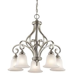 Kichler Monroe Five Light Brushed Nickel Down Chandelier On SALE