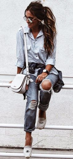 Denim On Denim outfit #fashion #streetstyle #styleinspiration #ootd #clothes #style #lookbook #wear