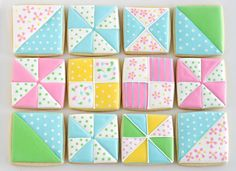Quilt Square Cookies | 25 Craft-Inspired Desserts That Are (Almost) Too Cute To Eat