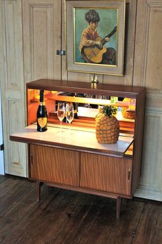 Beaver & Tapley mid century teak cocktail cabinet. Useful slim design will fit into hallways or alcoves. Fully illuminated and locks with key. | eBay!