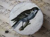 DIY, decoupage, bird, box by www.cudaodreki.blogspot.com