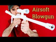 Airsoft Machine Gun Sniper Rifle DIY PVC Blowgun (with Pictures)