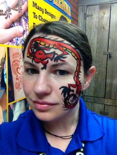 Chinese dragon face painting Dragon Face Painting, Face Paintings, Chinese Dragon, Worlds Of Fun, Projects, Ideas, Log Projects, Blue Prints, Thoughts