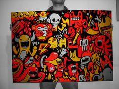 Rayando Monstruos by Maximiliano Albella, via Behance