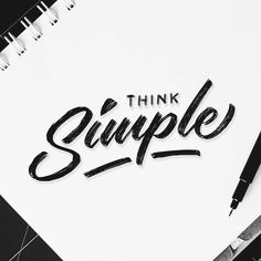 Think Simple Handlettering Daily Type Font Handletter Lettering