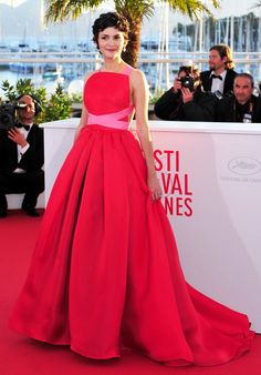 Audrey Tautou | Cannes - I adore her whole look but this dress is especially amazing