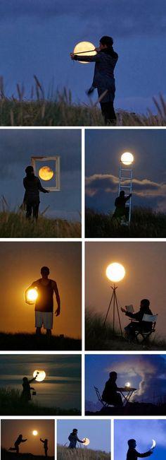 Pengambilan Foto Bulan yang Kreatif
