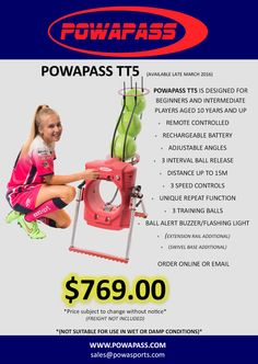 Be the first to own a Powapass TT10 football training machine! Stock available late March 2016. Order online or email us directly at sales@powasports.com  #soccer #football #players #keepers #coaches #skills #adelaideunited #training #ball #sport #fitness #melbournevictory #archiethompson #thematildas #aleague #socceroos