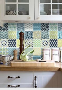 Kitchen bathroom Tile Decals Vinyl Sticker : 40pc di SnazzyDecal