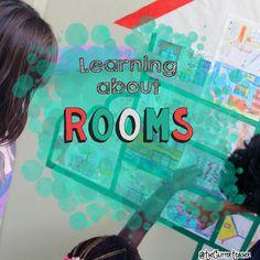 The Glitter Teacher: Learning about rooms! // Aprendemos las habitaciones de una casa