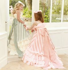 Jill Stuart flower girl dresses  This reminds me of the dresses they wore to the engagement party in Alice in Wonderland....