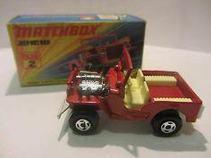 Matchbox Lesney 2e Jeep Hot Rod - 1972 NO FUE DE MIS FAVORITOS,PERO LO CONSERVÉ MUCHOS AÑOS,AL IGUAL QUE LA VARIANTE ROSA..