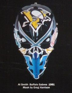 I was digging through the closet again and noticed a lot of mask stuff that hadn't received a lot of appreciation recently. Hockey Helmet, Hockey Goalie, Ice Hockey, Native American Humor, Nhl Pittsburgh Penguins, Goalie Mask, Star Wars, Cool Masks, Hockey Cards