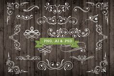 Vector Ornament Elements Decorations by Studio29 on @creativemarket