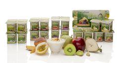 Ampliamos nuestra gama de #yogures bífidus 0% grasa #MarcaCarrefour, con los nuevos sabores de pera, de melocotón-maracuyá y de manzana-kiwi, ¡no sabrás por cuál decidirte! Fruit, Food, Self Branding, Yogurt, Fat, Meals