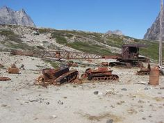 abandoned US military base in the Sermiligaaq Fjord