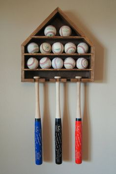 Baseball Shelf Love This For A Big Boy Room One Day Down The Road Wish I Knew Where Lucas Braves Hat Was