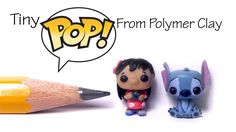 Cute Funko Pop / Pop Vinyl Inspired Polymer Clay Tutorial - Lilo & Stitch - Published on Feb 10, 2016 Hey guys! Today we're making a couple of tiny figurines inspired by the funko pop or pop vinyl versions of Disney's Lilo and Stitch - Hope you'll enjoy :) These are pretty simple to make, and to all who's been asking for 'polymer clay chibis', I guess this comes fairly close ^^  These are perfect for dollhouses or using with other dolls like barbie, monster high, American girl dolls and LPS