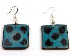 Quelepa Ethnic Earrings - Turquoise Flower  Price : $18.00 http://www.enloops.com/Quelepa-Ethnic-Earrings-Turquoise-Flower/dp/B009I9GR1U