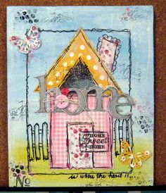 One of my little canvases :) Inspired by Paula Williamson...