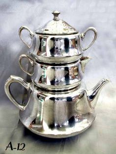 Stacking Samovar Tea Set.  I'd love a samovar, you wouldn't have to get up, wait for the kettle to boil, to top the pot up