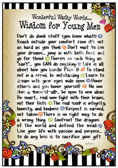 F965 - Wisdom for Young Men 8x10 Gifty Art