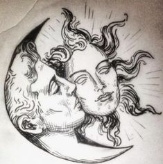 🔥He-moon 🌑She-sun 🔥 // original design available for tattoo. Come get 'hem! DM here or text at 07754921066 🌚🌝 Dark Art Drawings, Art Drawings Sketches Simple, Cool Drawings, Arte Peculiar, Arte Sketchbook, Hippie Art, Pen Art, Psychedelic Art, Aesthetic Art