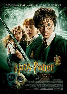Harry Potter  the Chamber of Secrets (2002) starring Daniel Radcliffe, Rupert Grint, Emma Watson, Ralph Fiennes, Tom Felton, James Phelps, Oliver Phelps, Bonnie Wright, Robbie Coltrane, Richard Harris, Alan Rickman, Jason Isaacs, Maggie Smith, Kenneth Branagh and Julie Walters
