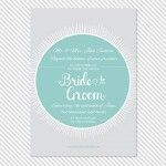 Badge Printable Wedding Invitation 2  | a part of the Badge Printable Wedding Invitation Suite from Caroline Fausel Paper Co.