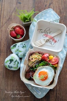 Lunch Box Bento, Lunch Snacks, Bento Recipes, Cooking Recipes, Healthy Recipes, Cafe Food, Food Menu, Fruit And Veg, Food Packaging
