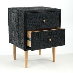 Charred Commode by Moran Woodworked Furniture Burned, wire brushed, then multiple coats of a clear zero VOC are applied, evolved from an ancient Japanese technique. Best Wood For Furniture, Painting Wooden Furniture, Furniture Making, Diy Furniture, Modern Furniture, Furniture Design, Furniture Plans, Rustic Furniture, Charred Wood