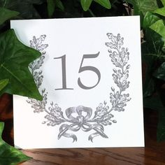 Beautiful! Table Card Numbers Printed Paper French Wreath Romantic Victorian Style Custom colors by V… http://ift.tt/1vNwTDw . Beautiful on #savoypaper #reichpaper.