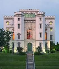 Old State Capital, Baton Rouge, La.  Sustained fire damage by the Union Army  during the occupation in the Civil War.