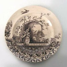 Transferware Plate... want to know more about this one ... Just Love it!