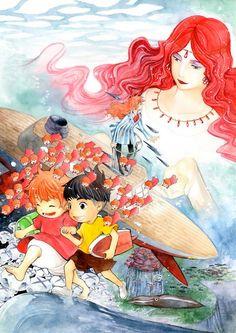ponyo  Miyazaki's rendition of 'The Little Mermaid'.