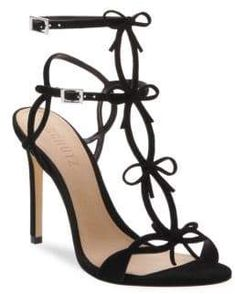 7b5c427fb842 Schutz Schutz Women s Moah T-Strap Suede Sandals - Black - Size 10 Suede  Sandals