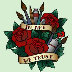 In Art We Trust is a T Shirt designed by crazypangolin to illustrate your life and is available at Design By Humans