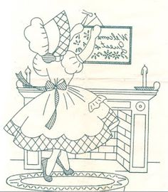 All Vintage: Sunbonnet Sue patterns, Chicken Scratch embroidery patterns, Crochet & Knitting patterns, Embroidery patterns, Quilt patterns Vintage Cookbooks & Recipes Towel Embroidery, Embroidery Flowers Pattern, Embroidery Patterns Free, Embroidery Patches, Cross Stitch Patterns, Quilt Patterns, Knitting Patterns, Vintage Embroidery, Embroidery Designs