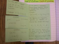 Math = Love: Algebra 2 Interactive Notebook Pages for Unit 1- inside set notation foldable