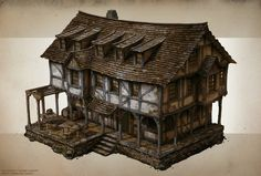 Spellforce 3 Building concepts 1 by Raphael Lübke
