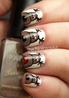 Xmas Nails, Get Nails, Fancy Nails, Love Nails, How To Do Nails, Pretty Nails, Hair And Nails, Holiday Nail Art, Christmas Nail Designs