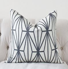 Kelly Wearstler Katana Pillow Cover - Ivory Ebony - Black and Ivory Pillow - Designer Geometric Pillow Cover