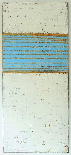"Saatchi Art Artist: CHRISTIAN HETZEL; Acrylic 2013 Painting ""textured blue inside white"""