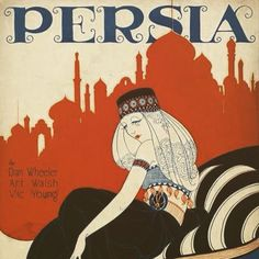 Illustration for sheet music released in the US in 1921 #iran #iranian #orientalist #vintage