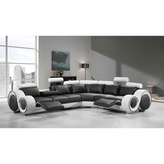 hematite sectional cheyanne leather trend sofa
